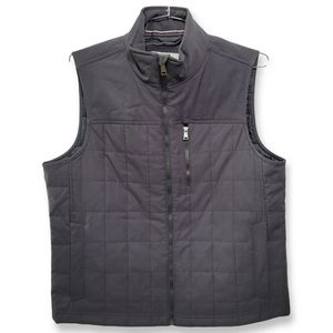 Orvis Quilted Vest Grey Media Pocket Classic Fit Size Large